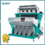 High production soybean color sorter with low damage rate