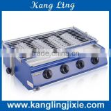 4 small heads Environmental Gas Barbecue Grill