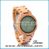 Latest hot imitation wood grain dial wood grain strap quartz watch