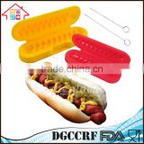 2 Plastic Hot Sell Spiral Hot Dog Slicers BBQ Grilling Sausage Cutters Kitchen Cook Tool