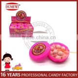 Fruit Flavor Round Ball Bubble Gum with Sour Candy Powder