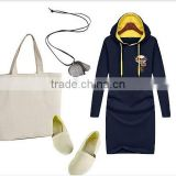 long sweatshirt female plus velvet hooded sweatshirt thickening slim long-sleeve shirt with hoody