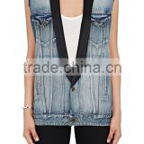 new arrival Autumn fashion design girls denim vest wholesale