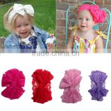New Infant Headbands Fashion Princess Multicolor Big Bow Headwear Baby Hair Accessories Girls Cute Lace Hairband