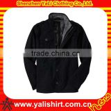 2014 custom fashion comfort black plain fleece thick casual men cheap brand jackets coats