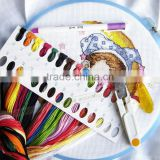 Wholesale 100 cards / set Thread Board for embroidery cross stitch kit colorful threading boards