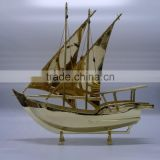 Noble Customized Made Golden Crystal Arab Dhow For wedding favors And Islamic Souvenirs Gifts