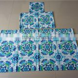 Factory directly supply 100 cotton velour custom print 3D pattern bath towel set as gift