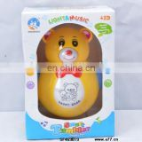 2014 plastic electronic musical bear tumbler toys with light for kids