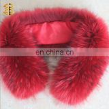 Hot Selling Hand Knit Raccoon Fur Snood Scarf Winter Wrap Neck Warmer