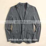 Wholesale custom logo new arrival mens leisure suit jacket cotton spandex soft shell blazer