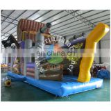 2016 Aier guangzhou hot sale amusement park maze pirate ship inflatable obstacle course for sale