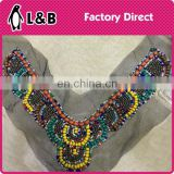 Garment accessory fashion hand made cheap beaded collar patterns
