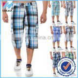 Yihao fashion custom men short Bermuda men's trouser's Capri Vintage Cargo short sport