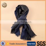 men's wholesale luxurious quality navy cashmere scarf