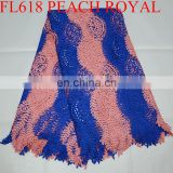 free shipping Latest design cord lace fabric african guipure lace fabric voile lace