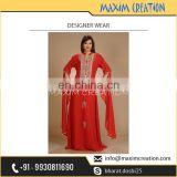 Best Selling Red Designer Kaftan for Women Available at Attractive Price