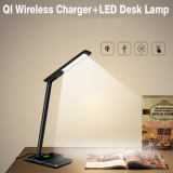 2 in 1 Touch LED Desk Lamp Table Lamp +QI Wireless Charger