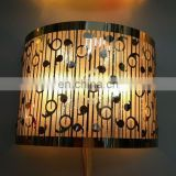 Industrial metal half round colored lamp shade with stainless steel