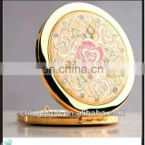 2015 gold cosmetic custom souvenir mirror for travel gift
