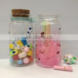 small decorative glass bottles child candy thin/fat glass bottle