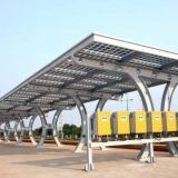Solar Carport Structures Impact Resistant Charge Electric Vehicles