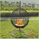 Used hotel furniture garden iron swing egg chair for sale