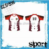 custom-made collegial rugby jersey with embroidered logo tackle twill for gym class