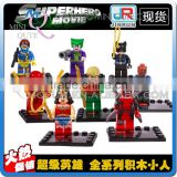 Mini Qute JR 8pcs/set Marvel Avenger Spiderman Batman super hero boys building block action figures educational toy NO.838