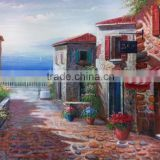 Best Service and Qulaity Hand Paint Stone House Oil Painting Canvas for Bedroom Decoration