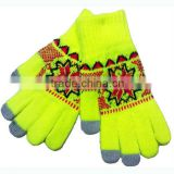 Promotional knitting winter warm gloves.smart phone touch screen gloves for men and women