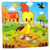 Wooden lucky Rooster puzzles, 12 animals (Chinese zodiac) puzzles, educational puzzles, wooden Jigsaw puzzles,
