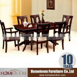 Luxury 2015 6 seater extension big table with arm chair sets