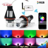 rgb color led angel eyes for bmw e60 with wifi control color changing by mobile phone