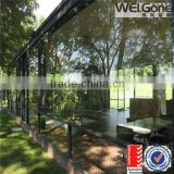 tempered reflective glass garden room