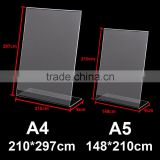 Acrylic Poster Menu Holder Perspex Leaflet Display Stands Name Holder A4 A5                                                                         Quality Choice
