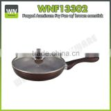 Glass lid magic pan aluminium frypan ceramic frying pans with bakelite handle for promotion