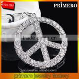 Car Cartoon Creative Peace Sign Logo Peugeot Alloy Crystal Key Chain Bag Hangings