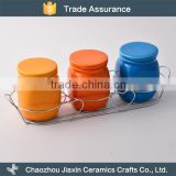 Latest tableware candy storage colorful ceramic jar                                                                                                         Supplier's Choice