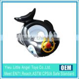 EN71 6P PVC Cartoon Design Inflatable Baby Ring Float BabySeater Baby swimming seat with wheel