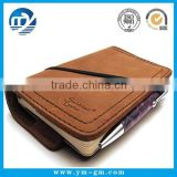 Personalized handmade leather traveler's american style notebook / recycle brown kraft paper notebook