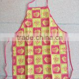 cotton apron for kitchen with print grape and strawberry pattern