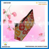 2016 rose cosemtic bag women make up china factory cosmetic bag rose printed cosmetic bag
