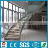 Indoor stainless steel prefabricated curved stairs for commercial buildings                                                                         Quality Choice