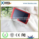 Shenzhen manufacturer customized 10000mah mobile charger solar power bank For Mobile Phone