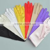 Short Satin Gloves Wedding bridal glove
