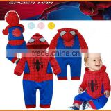 2015 new Spider Man cartoon baby romper Jumpsuit dress up Qingdao children's clothing wholesale trade