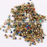 Good Quality 2MM Rhinestone nail flatback non hotfix glass rhinestones for decoration material