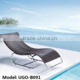 Aluminum Frame with Rattan Weave Chaise Lounge Furniture Best Seller in Summer