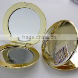 2014 newly bright gold round doble side mirror with five colors,wholesale pocket mirrors,ME102